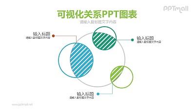 交集可视化关系PPT模板图示下载