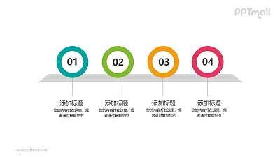 四个数字组成的目录PPT模板图示下载