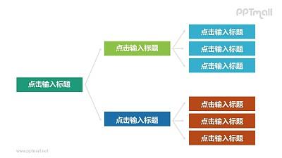 三部分层次关系PPT模板图示下载