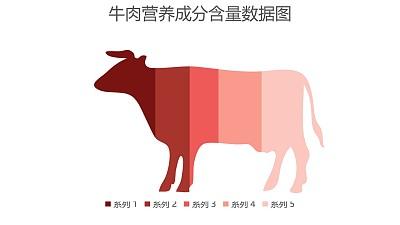 牛肉营养成分含量数据图PPT图表下载