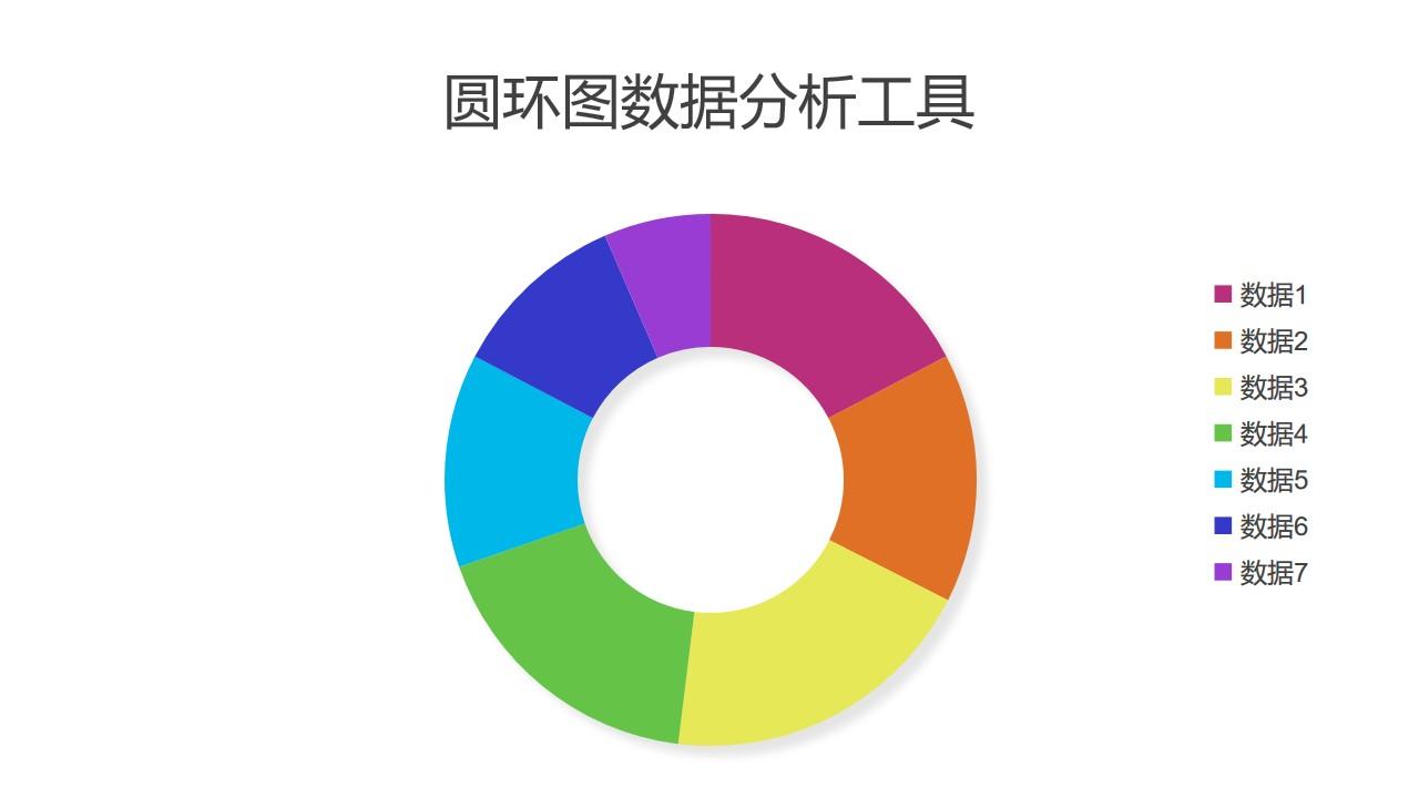 彩色远远数据分析工具PPT图表下载