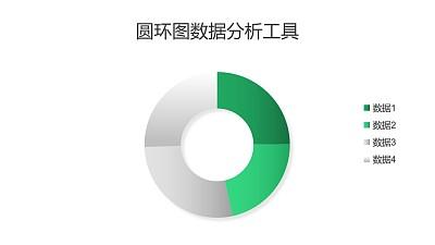 四部分圆环图数据分析PPT图表下载
