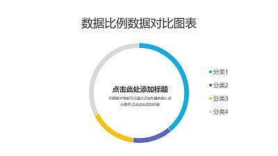 4部分占比分析圆环图PPT图表下载