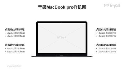 MacBook电脑屏幕展示PPT样机素材下载