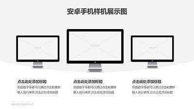 三台苹果显示器/iMac一体机样机PPT素材模板下载