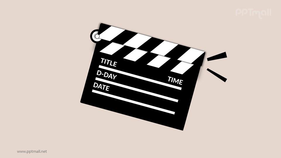 电影开机片头动画PPT动画模板素材下载