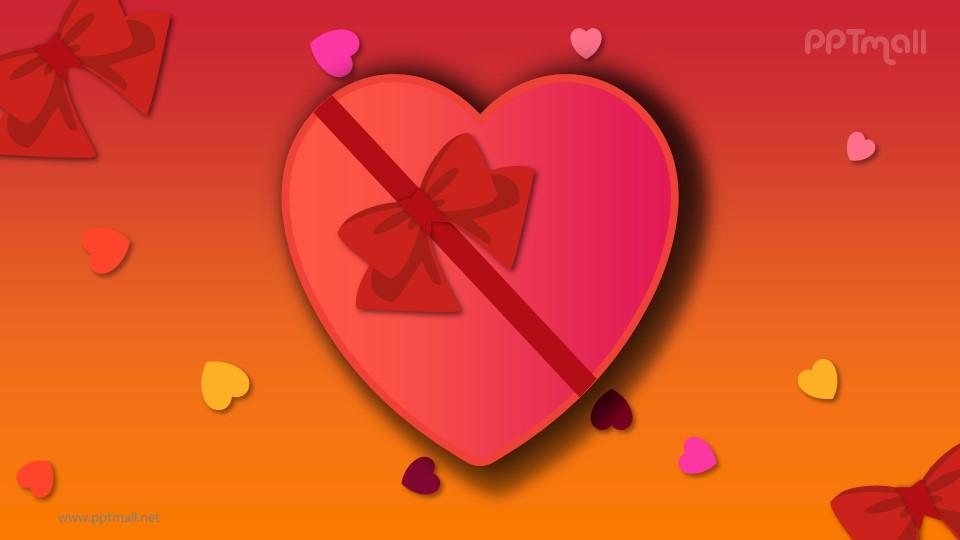 情人节跳动的心脏PPT动画模板素材下载