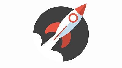 简约图标火箭发射上升PPT动画模板素材下载