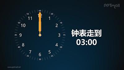 钟表定时旋转计时倒计时PPT动画模板素材下载