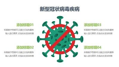 禁止/制止COVID-19新型冠状病毒PPT图示素材下载