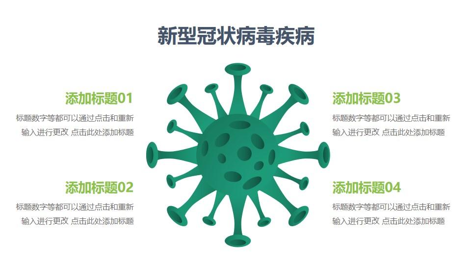 COVID-19新型冠状病毒结构图PPT图示素材下载