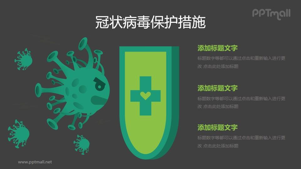 抵御COVID-19新型冠状病毒/疫苗PPT图示素材下载