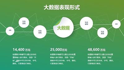 多点发散布局互联网大数据PPT图示下载