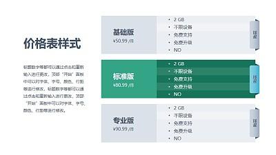 3部分计划表(图文排版)PPT素材模板下载