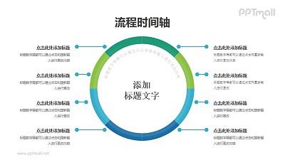 8要点圆形环绕并列关系PPT图示素材下载
